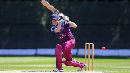 Olly Redwood hits out for Hampstead during the Middlesex County Premier Division (pic: George Philli