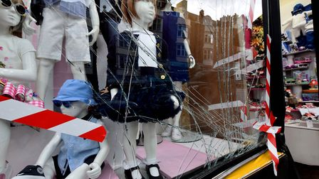 Tiddlywinks boutique St John's Wood High Street. Damage to the front window 28.05.19. Picture: Polly
