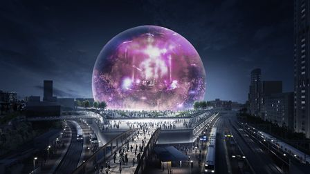 CGI of the MSG Sphere in Stratford Picture: MSG Company