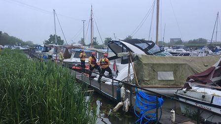 Six people suffered carbon monoxide poisoning onboard a boat in Somerleyton. Photo: HM Coastguard Lo