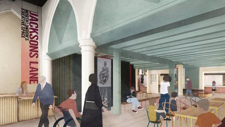 An indicative design of Jackson's Lane cafe and foyer