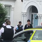 Police arrest a suspected moped thief. Picture: Supplied