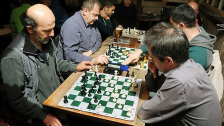 Players at Hackney Chess Club, which has won club of the year from the English Chess Federation, at