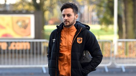 Ryan Mason, while playing for Hull City, arrives for the Premier League match (pic: Daniel Hambury/P