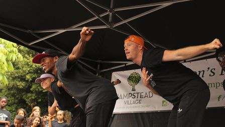 Dancers perform on the main stage at the top of Heath Street. Picture: Shanei Stephenson-Harris