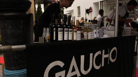 The Gaucho restaurant's stall at the festival. Picture: Shanei Stephenson-Harris