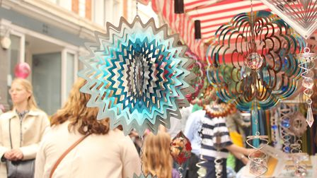 Aerial mobiles on sale to visitors to the summer festival. Picture: Shanei Stephenson-Harris