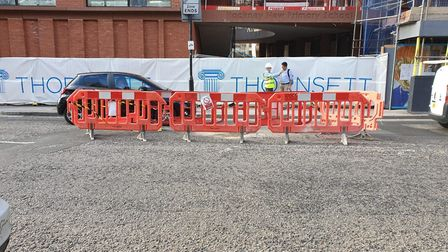 Thornsett is the main contractor at the Hackney New Primary School building site in Downham Road. La