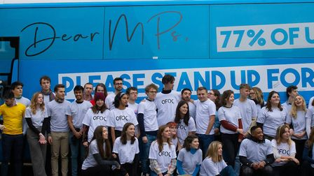 Our Future Our Choice campaigners head to the House of Commons. Photograph: Our Future Our Choice.