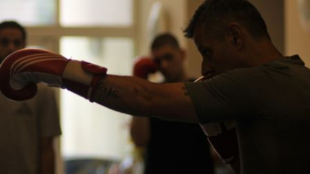 A boxing session at Streetwise CIC this week. Picture: Shanei Stephenson-Harris