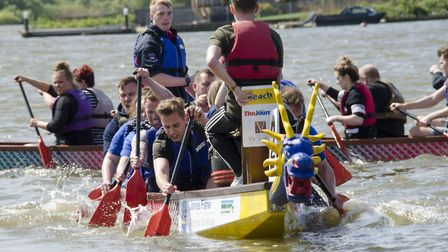 Action on the water as previous East Anglian Dragon Boat Festivals were held. Pictures: Courtesy of