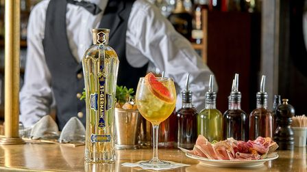 St-Germain cocktails accompanied by charcuterie, crudit�s and toasted sourdough bread are on a speci