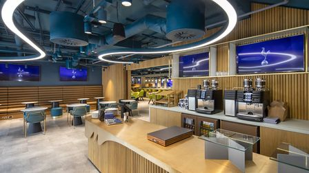A look inside Tottenham Hotspur's M cafe which will be open to the public