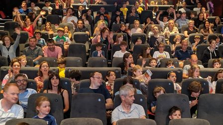 A busy cinema for the Clean Air Coleridge showing of the new Horrible Histories film. Picture: Sam V