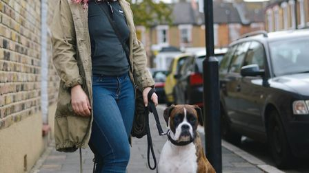 Dog trainer Edita and her rescue dog Gonzo. Picture: Click by Leo