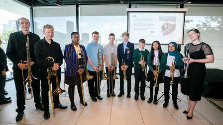 Pupils played a fanfare before the groundbreaking ceremony started which was put together with the B