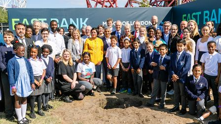 A time capsule was buried on the ground where the East Bank cultural quarter is being built at Queen