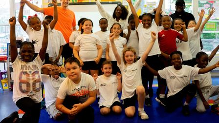 The children who took part in the session with Fitter Future. Picture: Joshua Thurston