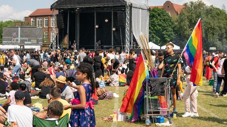 Pride flags for sale at UK Black Pride. Picture: Siorna Ashby