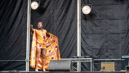 Jordan Charles, from BBC1's All Together Now, speaking at UK Black Pride. Picture: Siorna Ashby