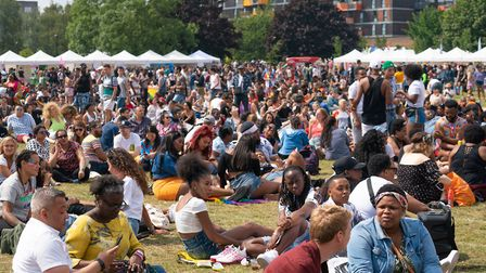 Crowds at UK Black Pride. Picture: Siorna Ashby