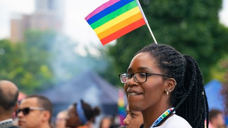Pride Flag worn proudly at UK Black Pride. Picture: Siorna Ashby
