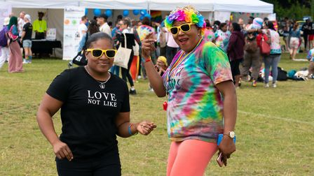 Dancing to the main stage music at UK Black Pride. Picture: Siorna Ashby