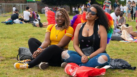 Happiness with wings at UK Black Pride. Picture: Siorna Ashby