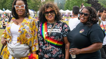 Celebrating UK Black Pride with colour and smiles. Picture: Siorna Ashby