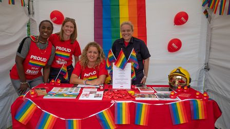 London Fire Brigade stall at UK Black Pride. Picture: Siorna Ashby