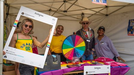 Naz Project, raising awareness of sexual health at UK Black Pride. Picture: Siorna Ashby