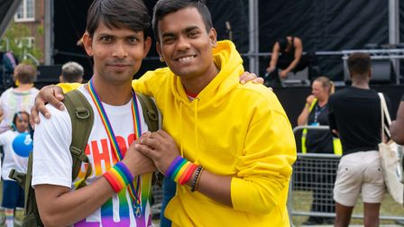 Rainbow wristbands unite at UK Black Pride. Picture: Siorna Ashby