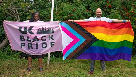 Hackney mayor Philip Glanville and UK Black Pride co-founder and executive director Phyll Opoku-Gyim