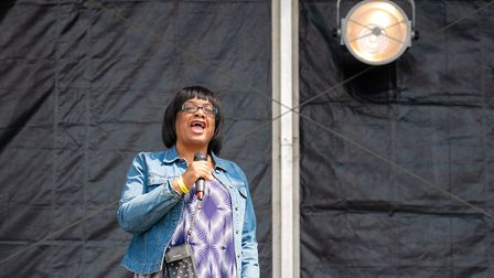 Diane Abbott makes a special appearance at UK Black Pride. Picture: Siorna Ashby