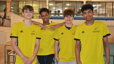 Haringey Aquatics' swimmers have qualified for the British Summer Championships. Pictured from left