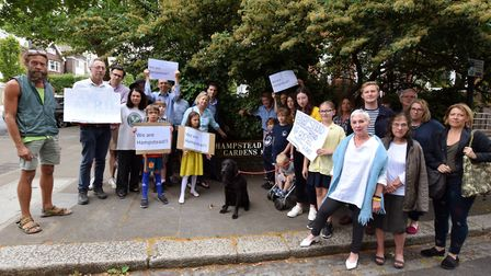 Residents protest the idea of redrawing the ward boundaries, meaning roads such as Hampstead Hill Ga