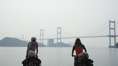 Scenes from Tim Stephens and Adam Faulkner's bike ride from Hackney to Tokyo. Picture: Adam Faulkner