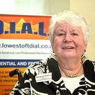 Chair of DIAL Lowestoft and Waveney Margaret Oldham MBE.