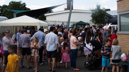 Crowds enjoyed the day at Rhodes Avenue Primary, but young children missed the bouncy castle. Pictur