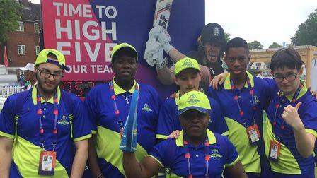 The Hackney Pan-Disability Cricket Team volunteered at Lords for the Cricket World Cup. Picture: Geo