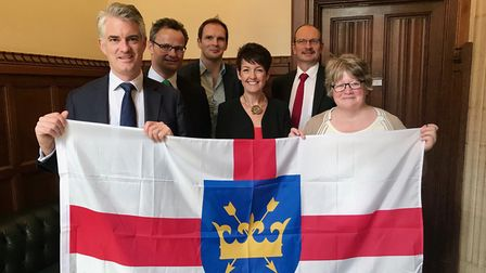 Suffolk's seven MPs hosted a special event in parliament for Suffolk Day Picture: ANNA TREVERS