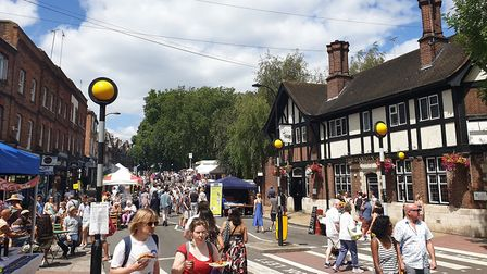 Crowds at the South End Green Festival. Picture: Harry Taylor