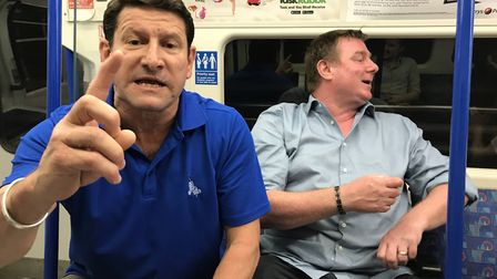 The two men were on a northbound northern line tube train from Camden Town at around 9.30pm on Frida