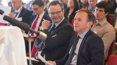 Fisheries minister George Eustice and Waveney MP Peter Aldous attended a conference in Lowestoft in