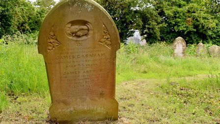 David Padfield is looking after graves from The First World War at Kessingland churchyard.Picture: N