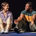 Phoebe Pryce and Jonathan Livingstone in Cash Cow at Hampstead Downstairs