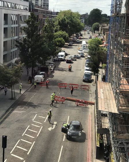 A massive pillar fell from the tenth floor of a building site where Hackney New Primary School will