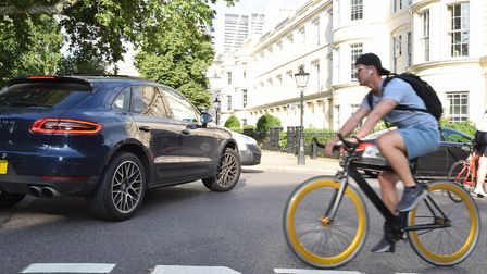Cyclists and park campaigners have drawn attention to safety problems caused by traffic in Regent's