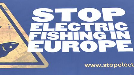 The stop electric fishing in Europe protest at Lowestoft fish market. Picture: Mick Howes
