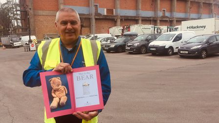 Glen Whitby, refuse and recycling manager at Millfields Depot, with the thank-you book he and his co